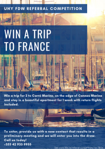 Win a Trip to France Flyer