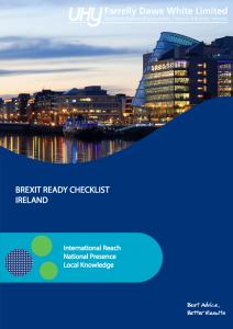 Brexit Ready Checklist Ireland Brochure