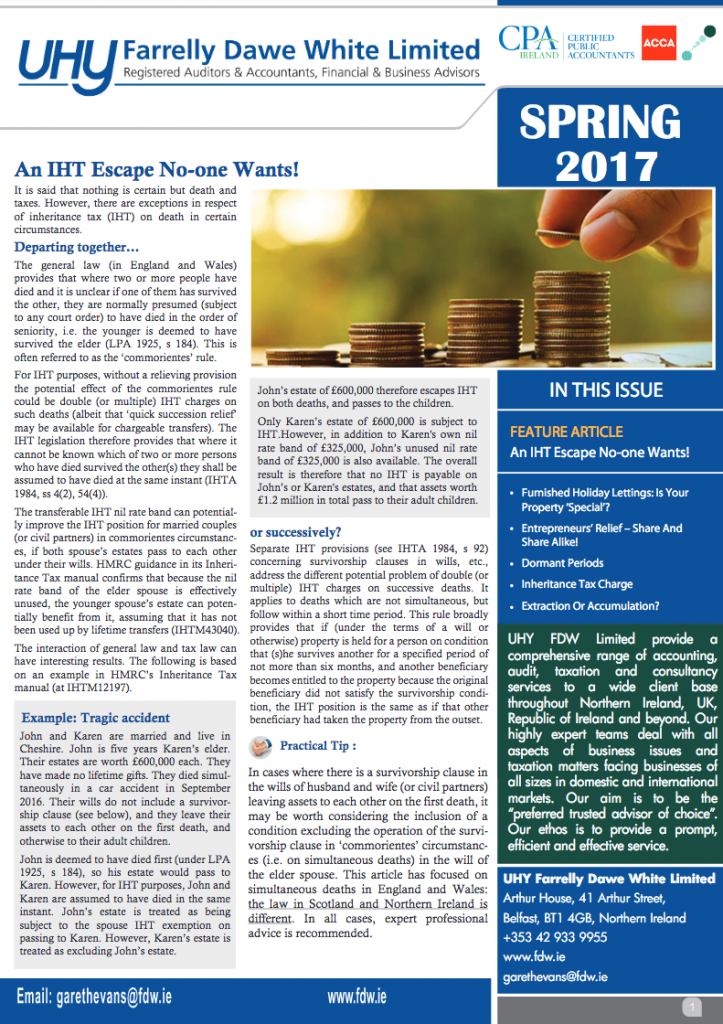 UK NI Tax Spring 2017