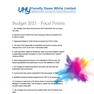 Budget 2021 Focal Points